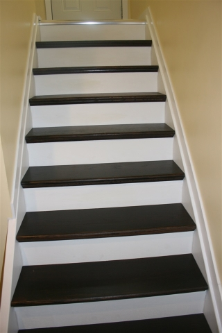 Stairs to Basement - New Laminate!