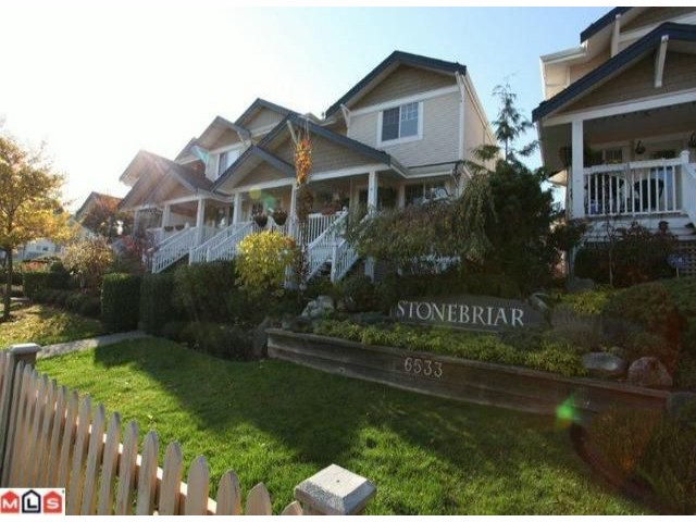 "Main Photo: 6 6533  121 ST in Surrey: West Newton Townhouse for sale in ""Stonebriar"" : MLS® # F1227166"