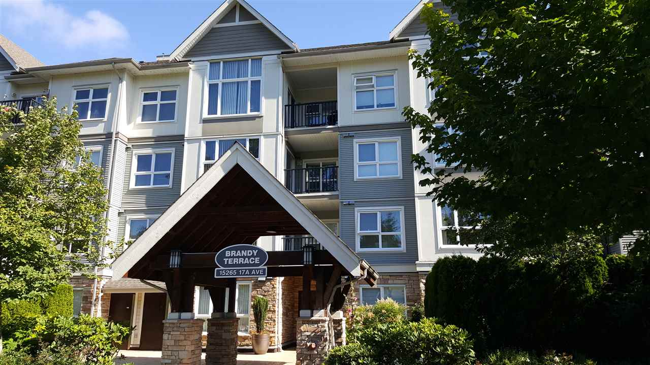 "Main Photo: 408 15265 17A Avenue in Surrey: King George Corridor Condo for sale in ""Brandy Terrace"" (South Surrey White Rock)  : MLS® # R2089964"
