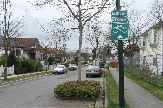 This section of East 37th Avenue is part of the City cycling network!