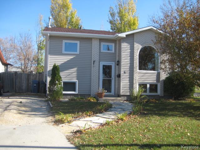 Main Photo: 4 Sims Crescent in WINNIPEG: Transcona Residential for sale (North East Winnipeg)  : MLS(r) # 1528260