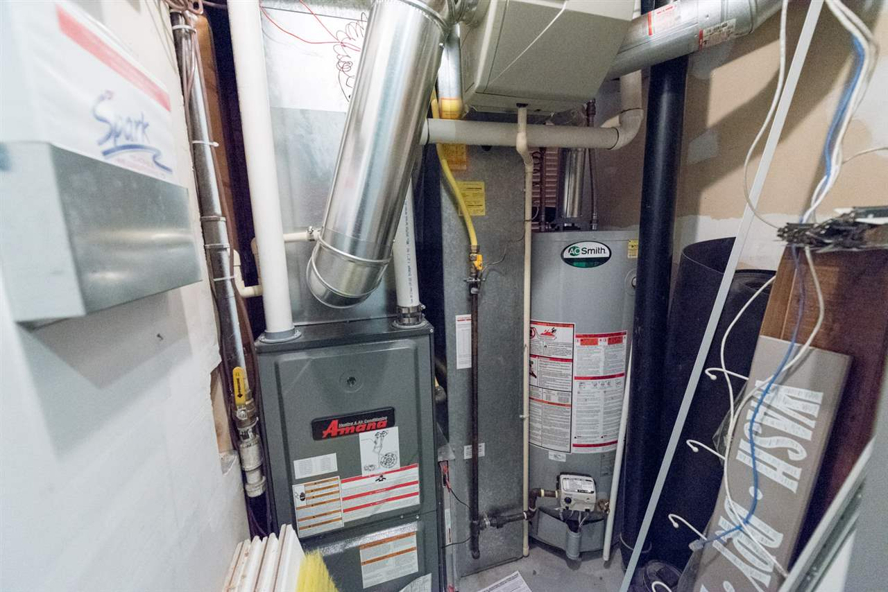 High-efficiency furnace and hot water tank less than 2 years old...