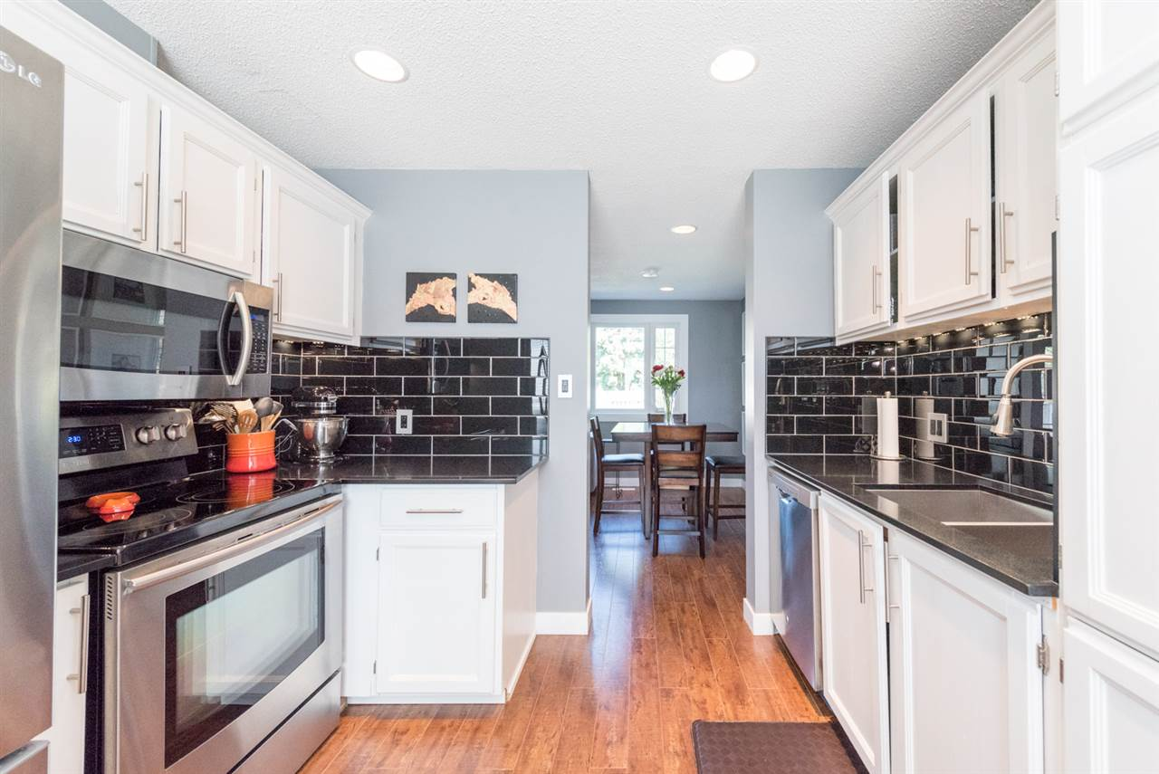 Four stainless steel appliances included...