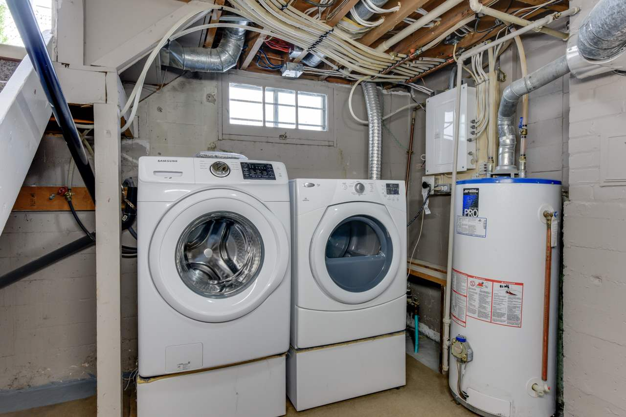 New washer and dryer are here in the full-height utility room