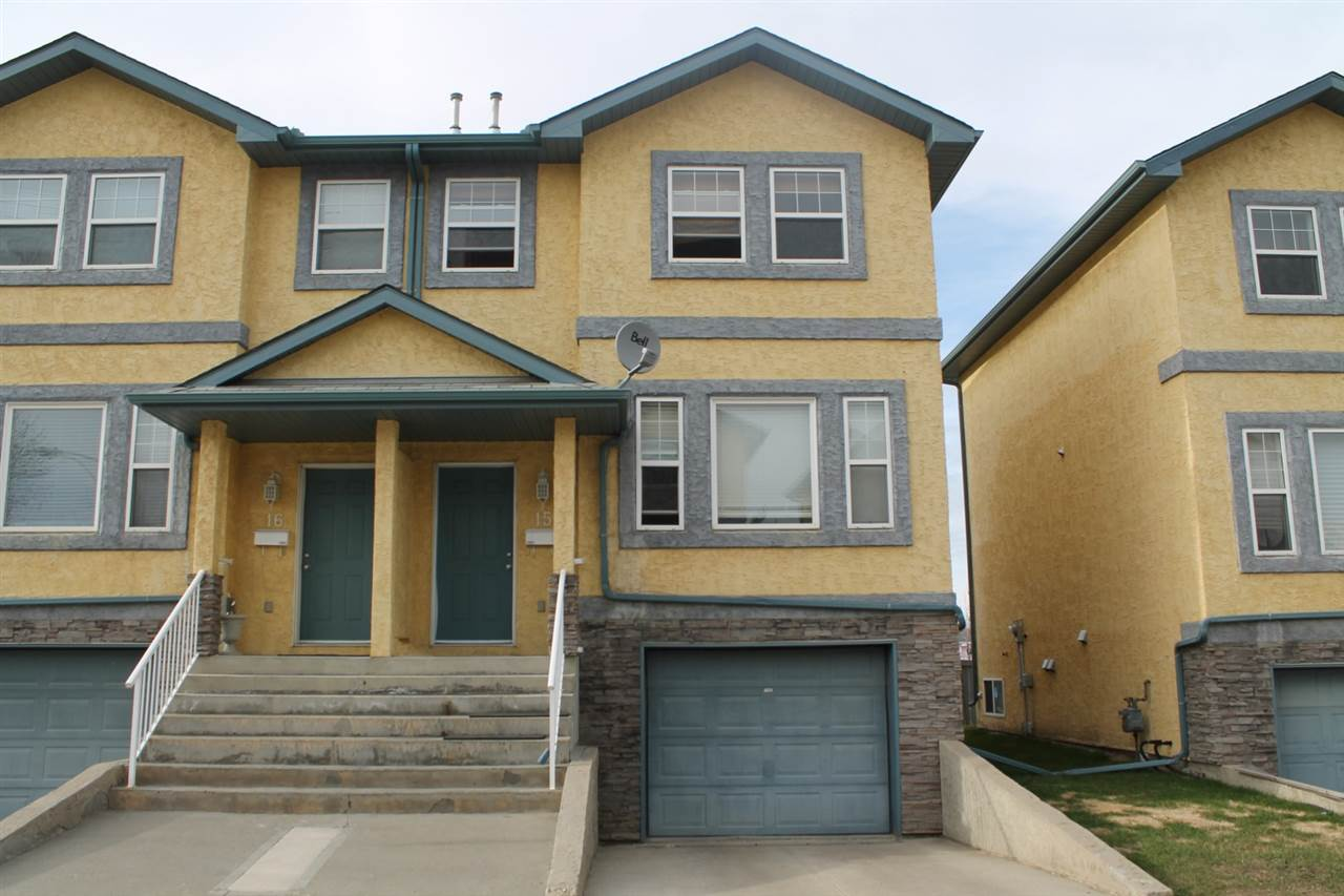 Main Photo: 15 16777 91 Street in Edmonton: Zone 28 Townhouse for sale : MLS® # E4092795