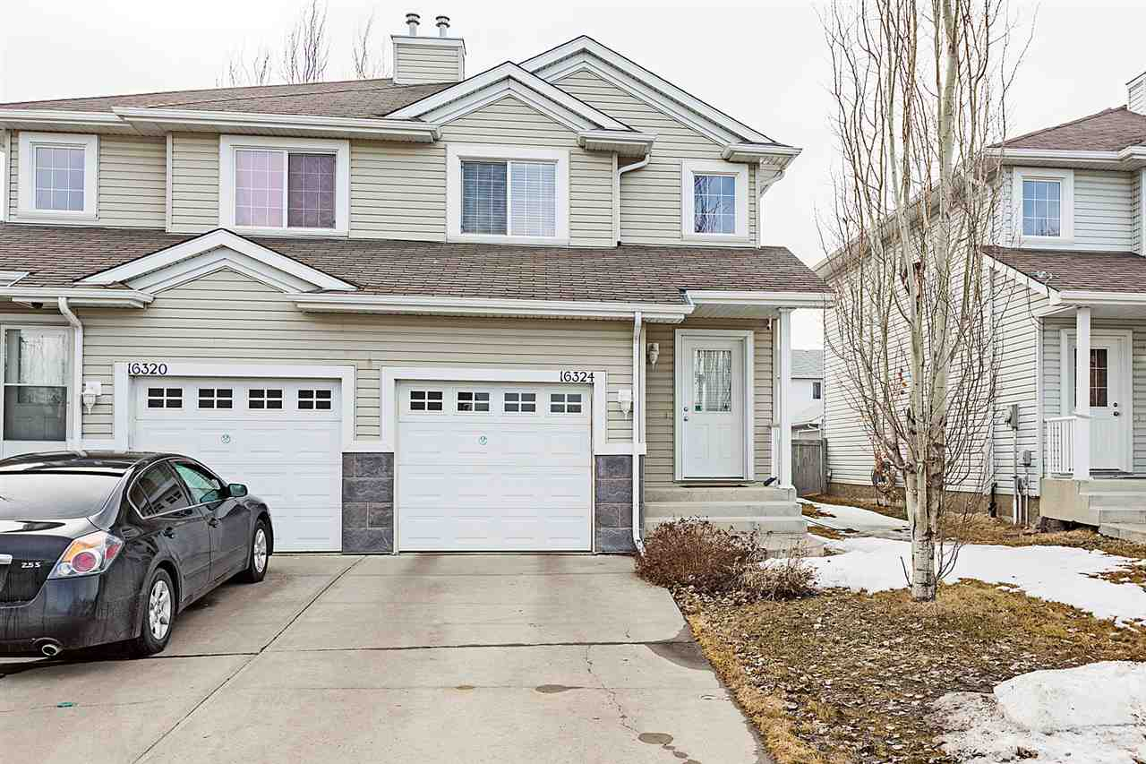 Main Photo: 16324 56 Street NW in Edmonton: Zone 03 House Half Duplex for sale : MLS®# E4105518