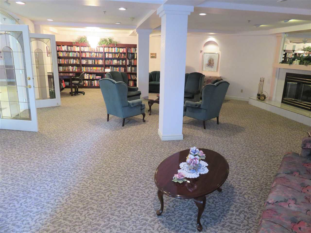 View of the Main Floor Library as you enter the building! Lots of books for you to read anytime! :)