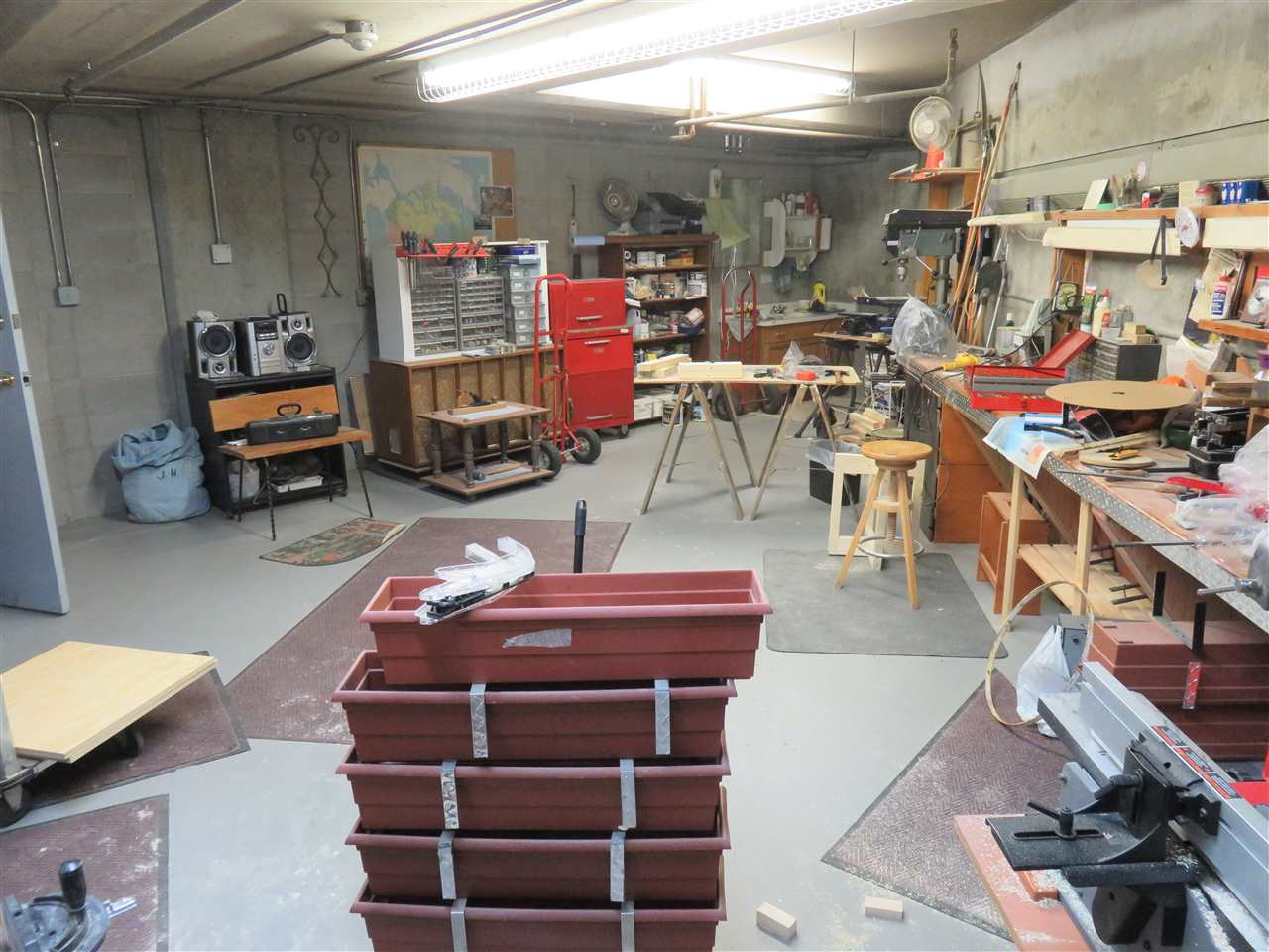 View of the Basement Workshop for all to use anytime for any project you may have?! :)