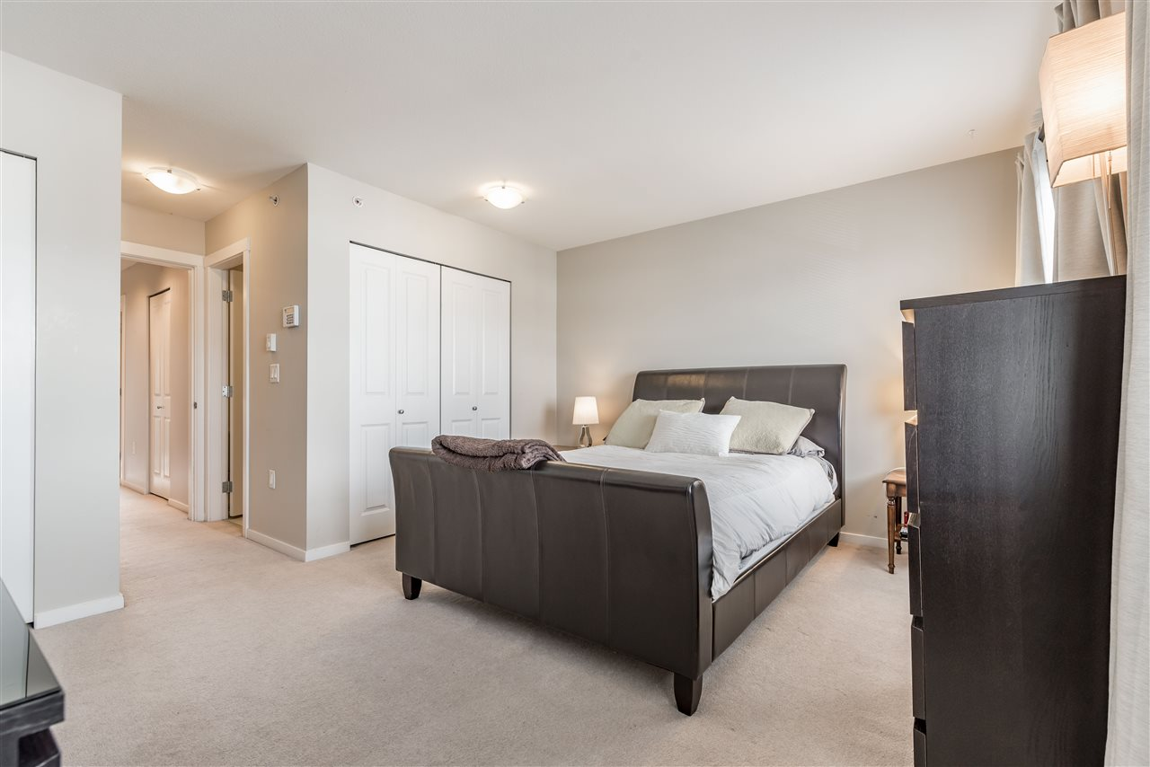 Large Master bedroom features double closets and ensuite