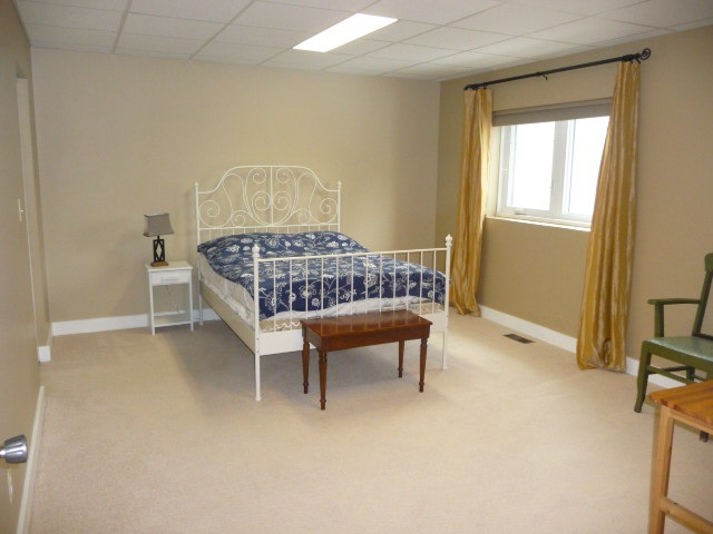 There are 2 large bedrooms in the basement, along with a full bathroom.