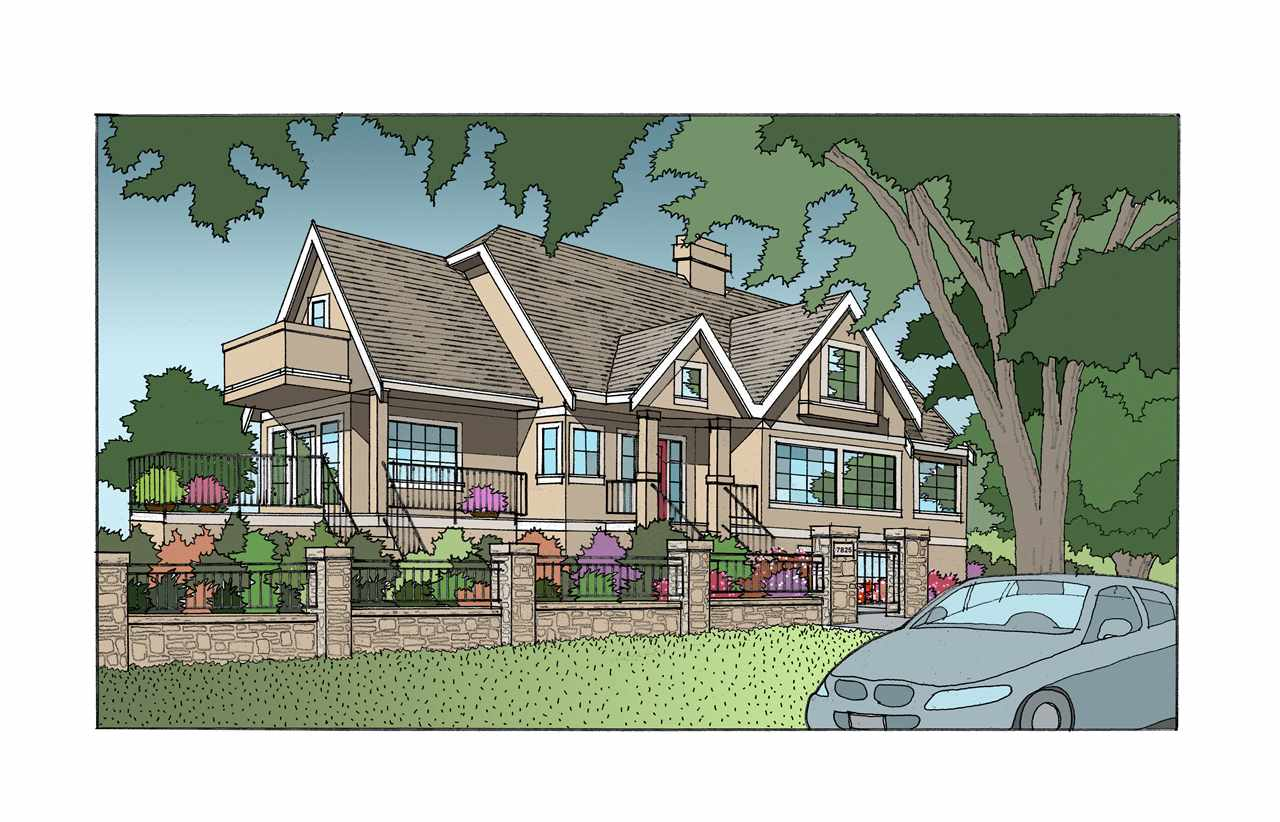 Conceptual Rendering of Renovated Home