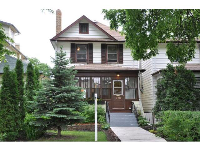 Main Photo: 470 Rosedale Avenue in WINNIPEG: Manitoba Other Residential for sale : MLS® # 1112391
