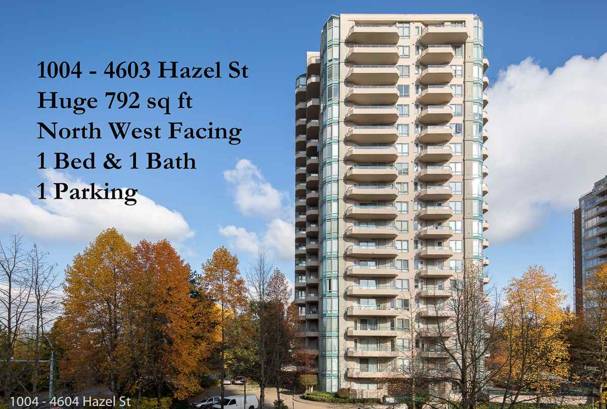 "Main Photo: 1004 4603 HAZEL Street in Burnaby: Forest Glen BS Condo for sale in ""CRYSTAL PLACE"" (Burnaby South)  : MLS®# R2218657"