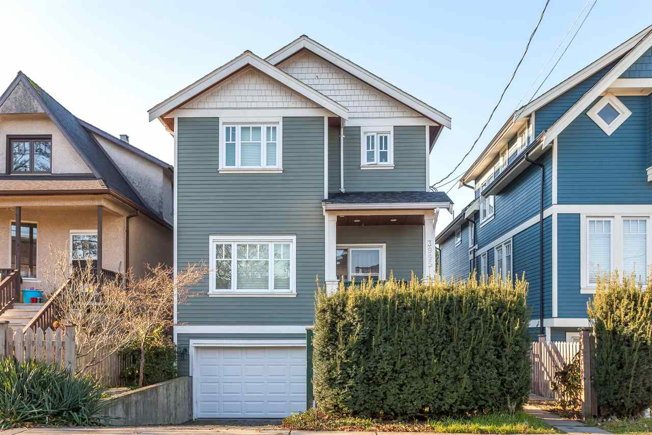 "Main Photo: 3993 WELWYN Street in Vancouver: Victoria VE House 1/2 Duplex for sale in ""CEDAR COTTAGE"" (Vancouver East)  : MLS(r) # R2018034"