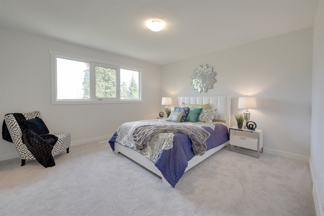 Spacious master bedroom with plenty of windows