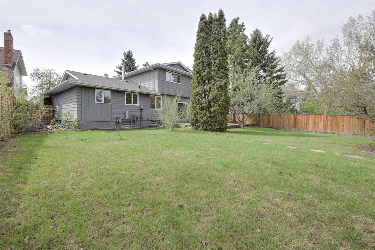 Huge backyard, backing onto a walking path.