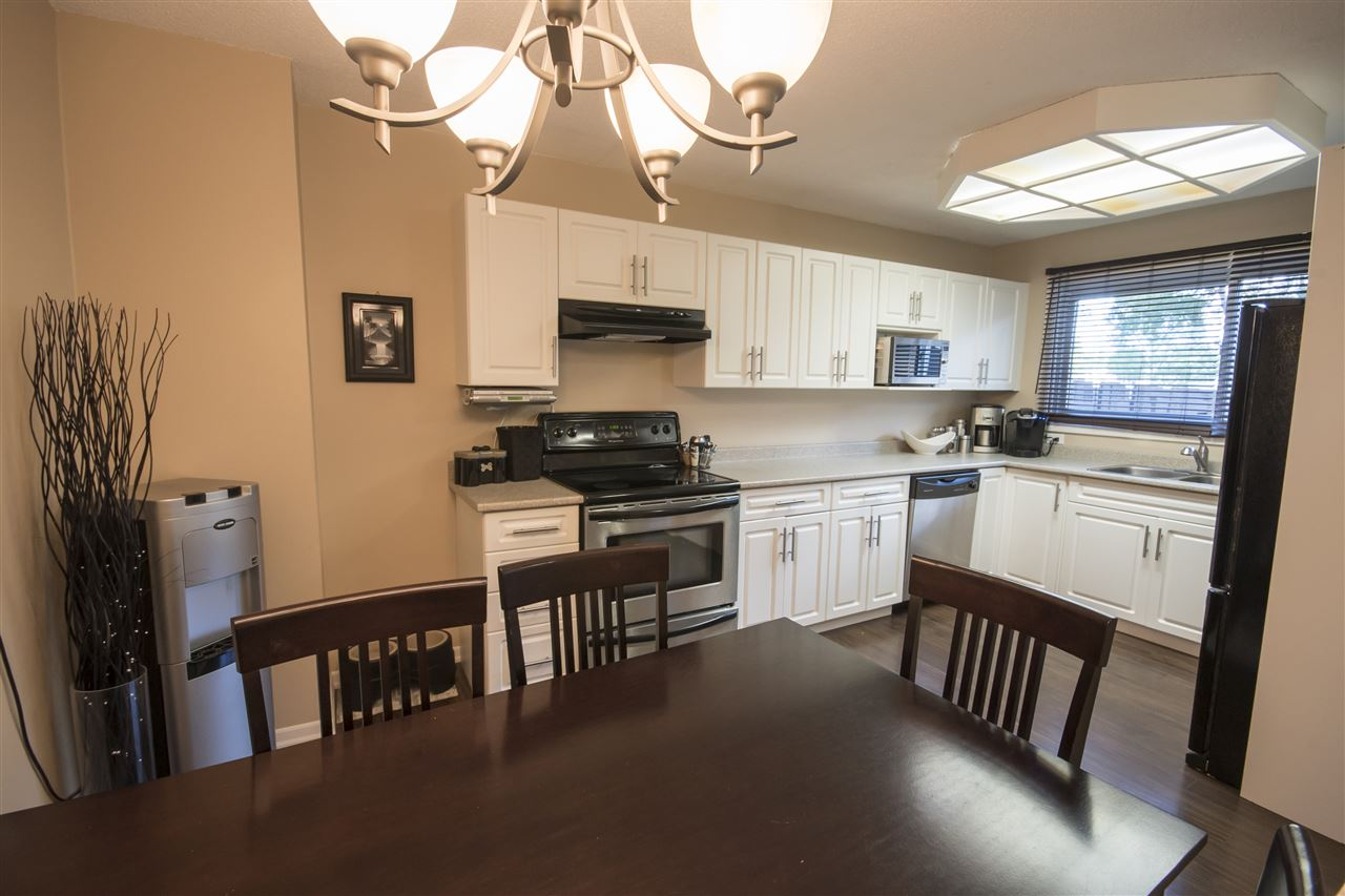 Beautifully updated kitchen with plenty of storage and counter space!