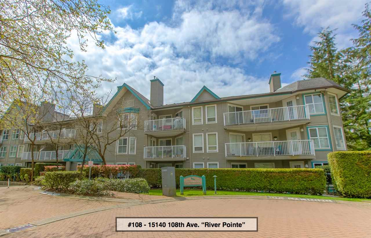 "Main Photo: 108 15140 108 Avenue in Surrey: Bolivar Heights Condo for sale in ""River Pointe ""The Harrison"""" (North Surrey)  : MLS®# R2265411"