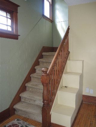 Beautiful stair case brings you to the 4 bedrooms, plus a loft/attic area ready to be finished