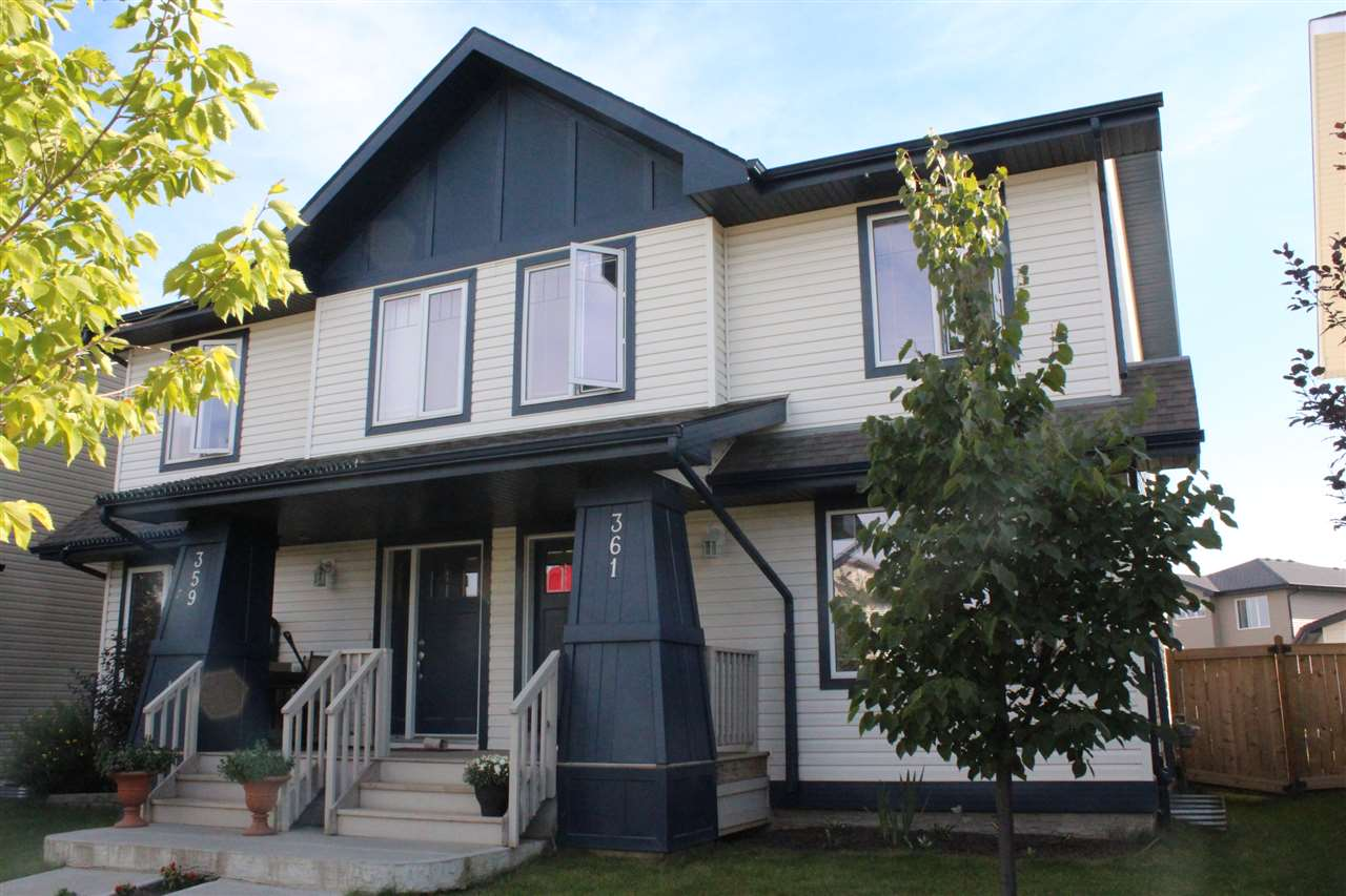 Main Photo: 361 SECORD Boulevard NW in Edmonton: Zone 58 House Half Duplex for sale : MLS® # E4077488