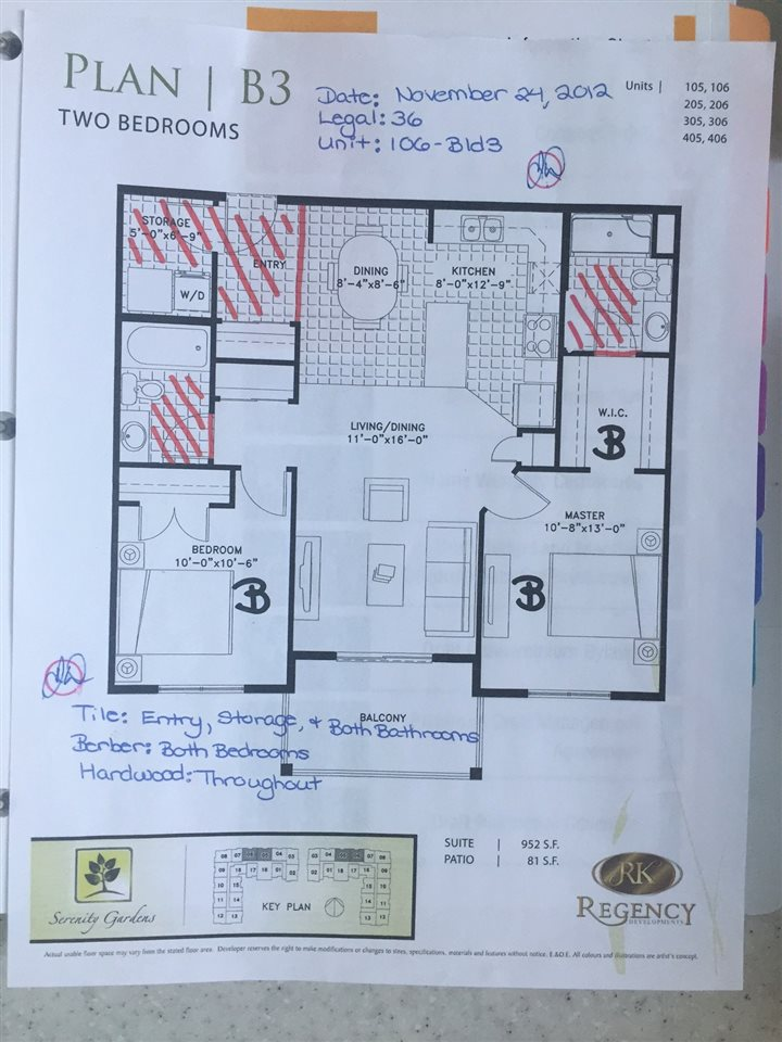 Here is the BUILDERS PLANS FOR THIS UNIT! MEASURED AT 952 SQ.FT! :)