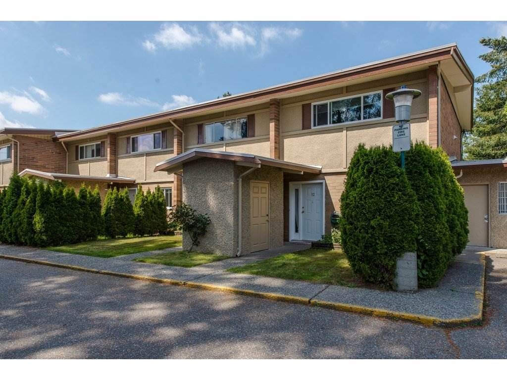 "Main Photo: 12 2048 MCCALLUM Road in Abbotsford: Central Abbotsford Townhouse for sale in ""Garden Court Estates"" : MLS®# R2292137"