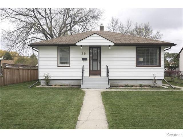 Main Photo: 29 Humboldt Avenue in WINNIPEG: St Vital Residential for sale (South East Winnipeg)  : MLS®# 1527574
