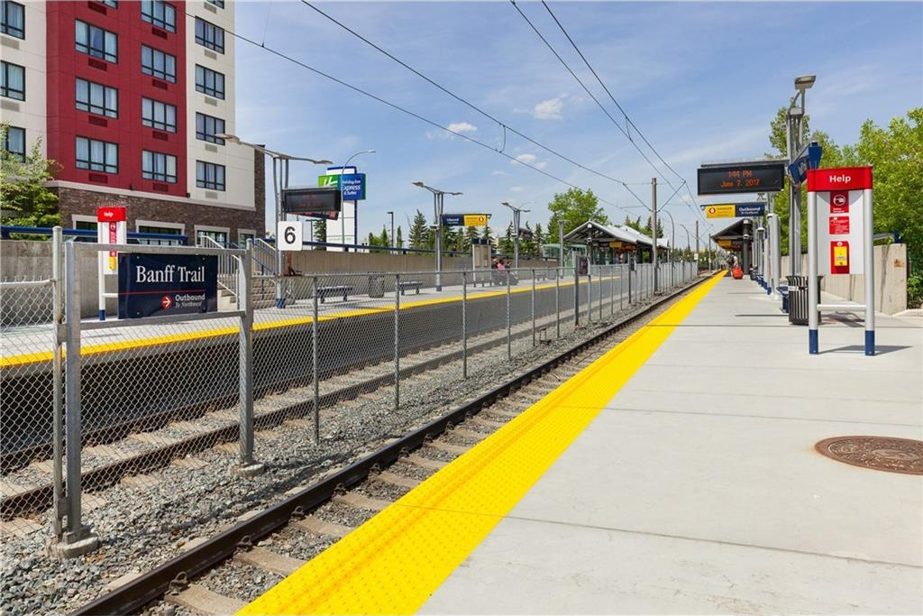 C-TRAIN STATIONS WITH-IN WALKING DISTANCE