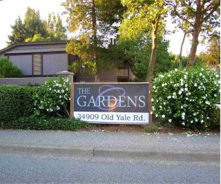 "Main Photo: 423 34909 OLD YALE Road in Abbotsford: Abbotsford East Townhouse for sale in ""The Gardens"" : MLS®# R2291755"