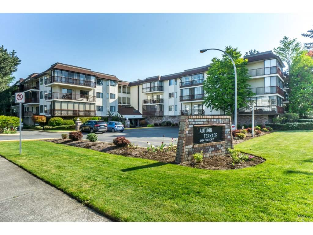 "Main Photo: 102 2414 CHURCH Street in Abbotsford: Abbotsford West Condo for sale in ""Autumn Terrace"" : MLS®# R2264260"