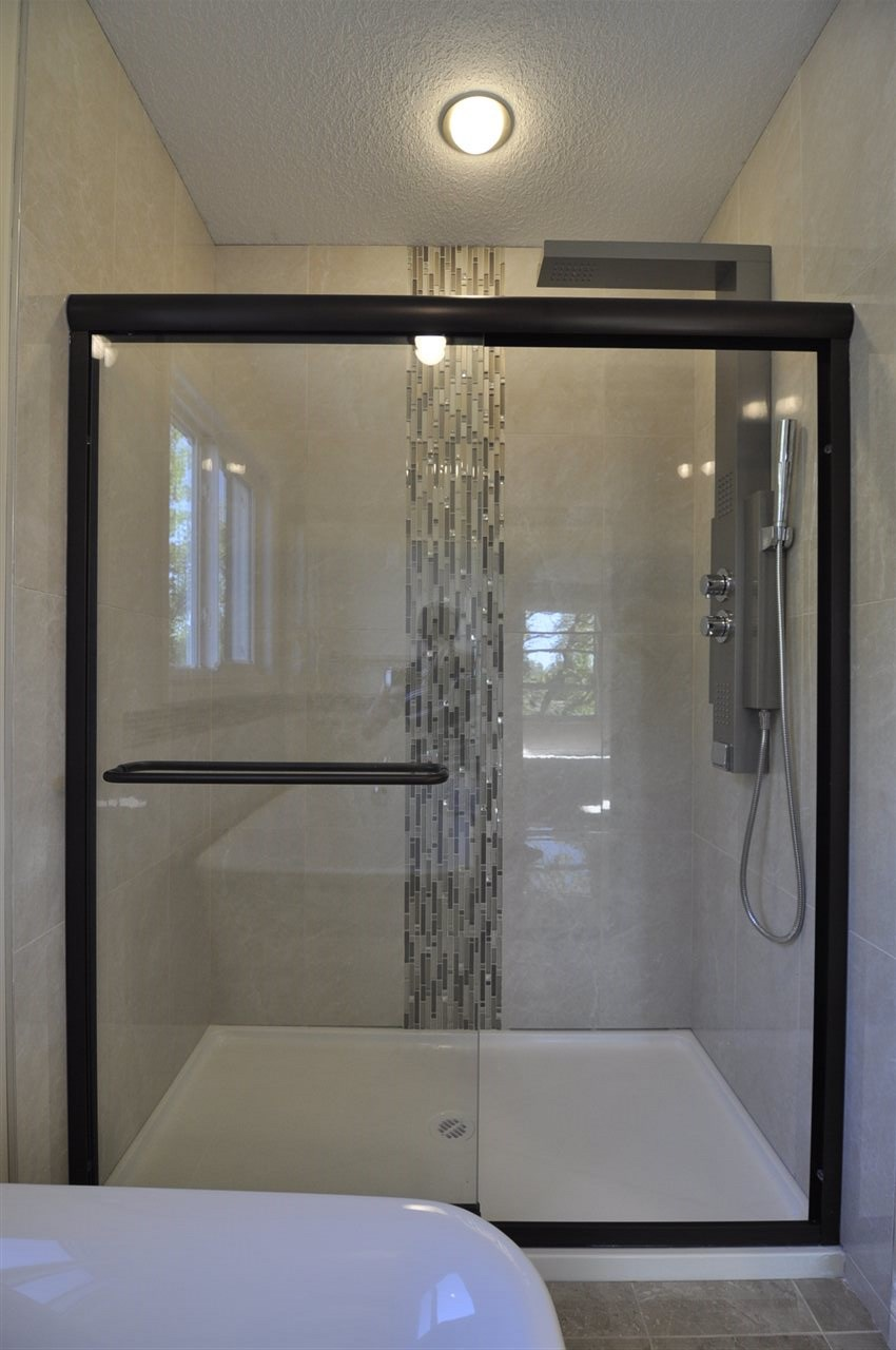 Free Standing Waterfall Shower!