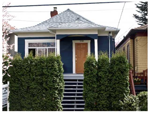Main Photo: 1178 E 14TH Avenue in Vancouver: Mount Pleasant VE House for sale (Vancouver East)  : MLS® # V878809