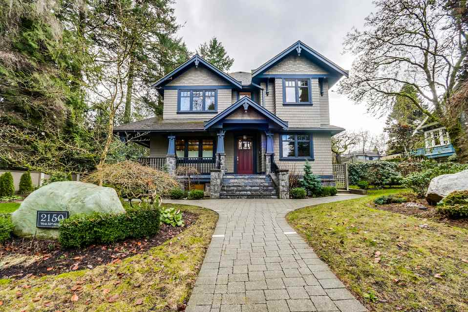 Main Photo: 2150 W 35TH Avenue in Vancouver: Quilchena House for sale (Vancouver West)  : MLS® # R2030803