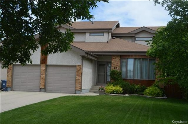 Main Photo: 12 Keelegate Place in Winnipeg: Dakota Crossing Residential for sale (2F)  : MLS®# 1715489
