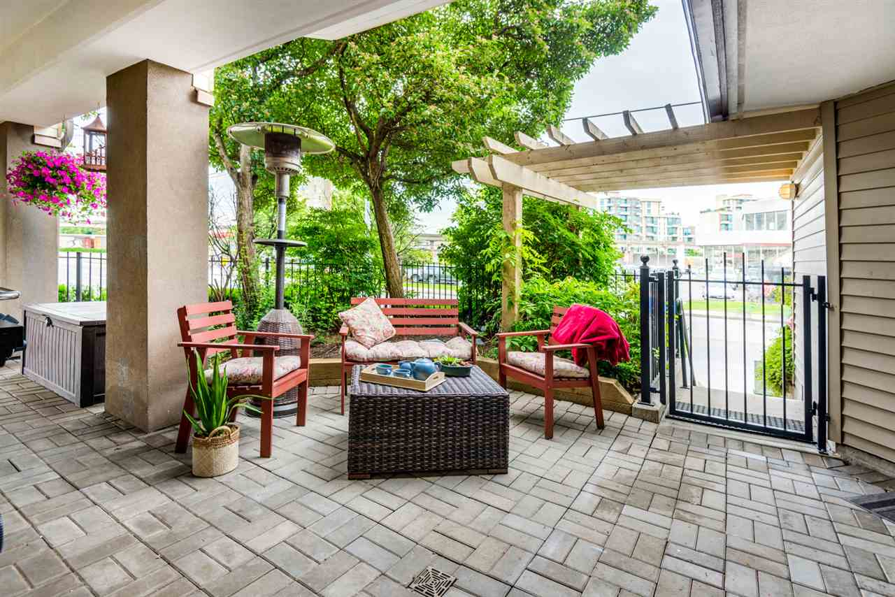 Patio with street access