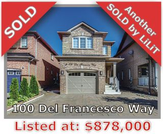 Main Photo: 100 Del Francesco Way in Vaughan: Freehold for sale