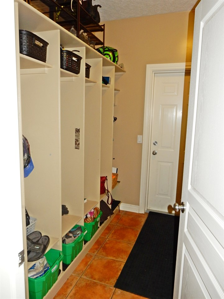 entrance in from garage - great storage for kids!