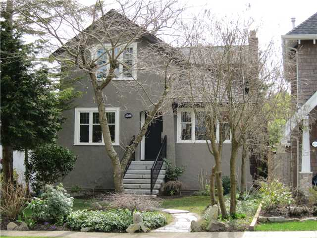 Front view - lovely tree-lined street and quiet Point Grey location