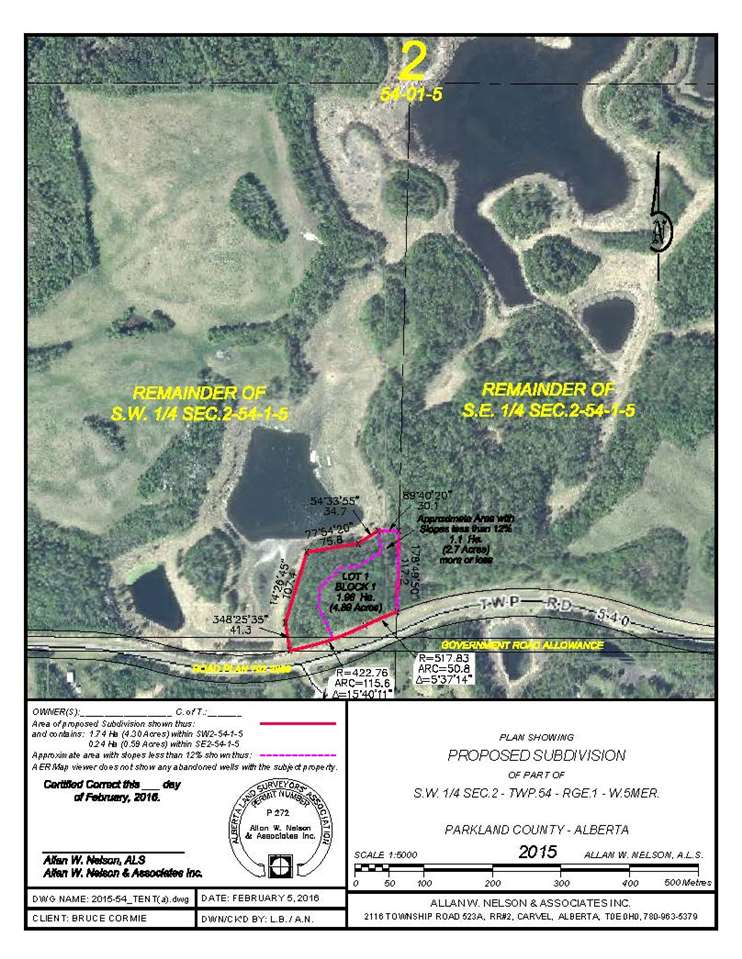 Main Photo: 1120 Twp Rd 540: Rural Parkland County Rural Land/Vacant Lot for sale : MLS® # E4044204
