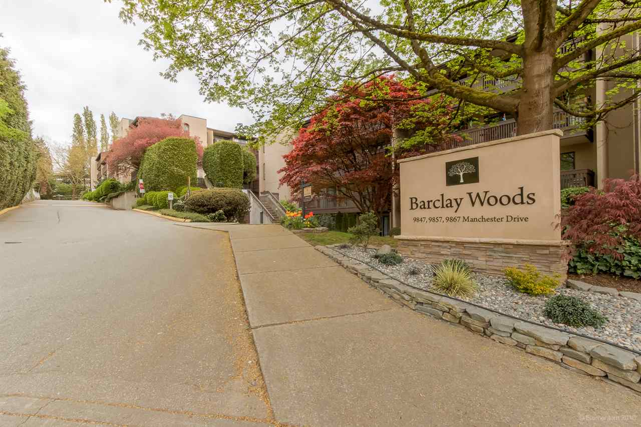 "Main Photo: 219 9847 MANCHESTER Drive in Burnaby: Cariboo Condo for sale in ""Barclay Woods"" (Burnaby North)  : MLS®# R2244034"