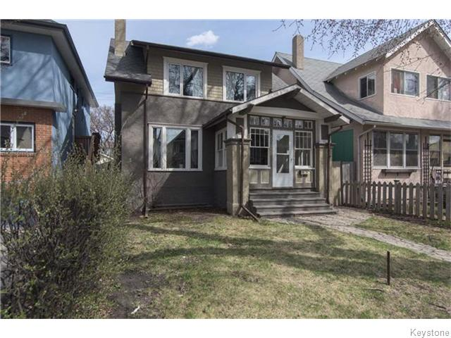 Main Photo: 595 Sherburn Street in Winnipeg: West End / Wolseley Residential for sale (West Winnipeg)  : MLS® # 1610978