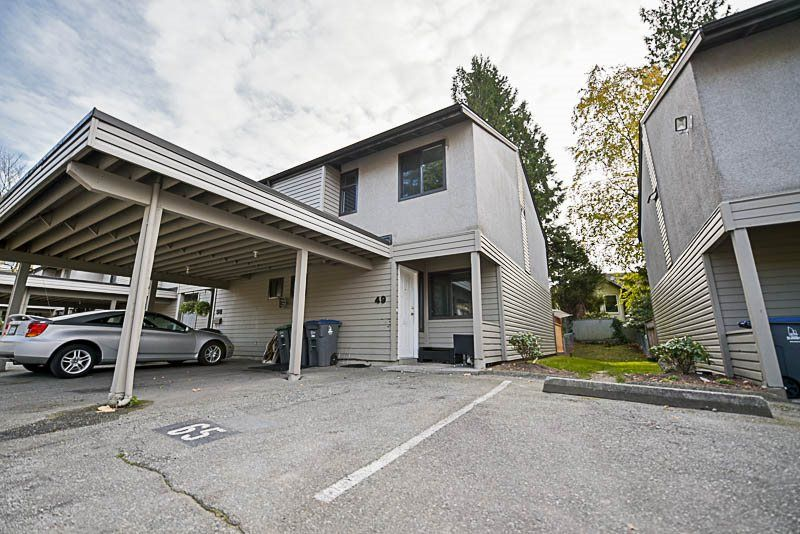 "Main Photo: 49 9955 140 Street in Surrey: Whalley Townhouse for sale in ""Timberlane"" (North Surrey)  : MLS®# R2219175"
