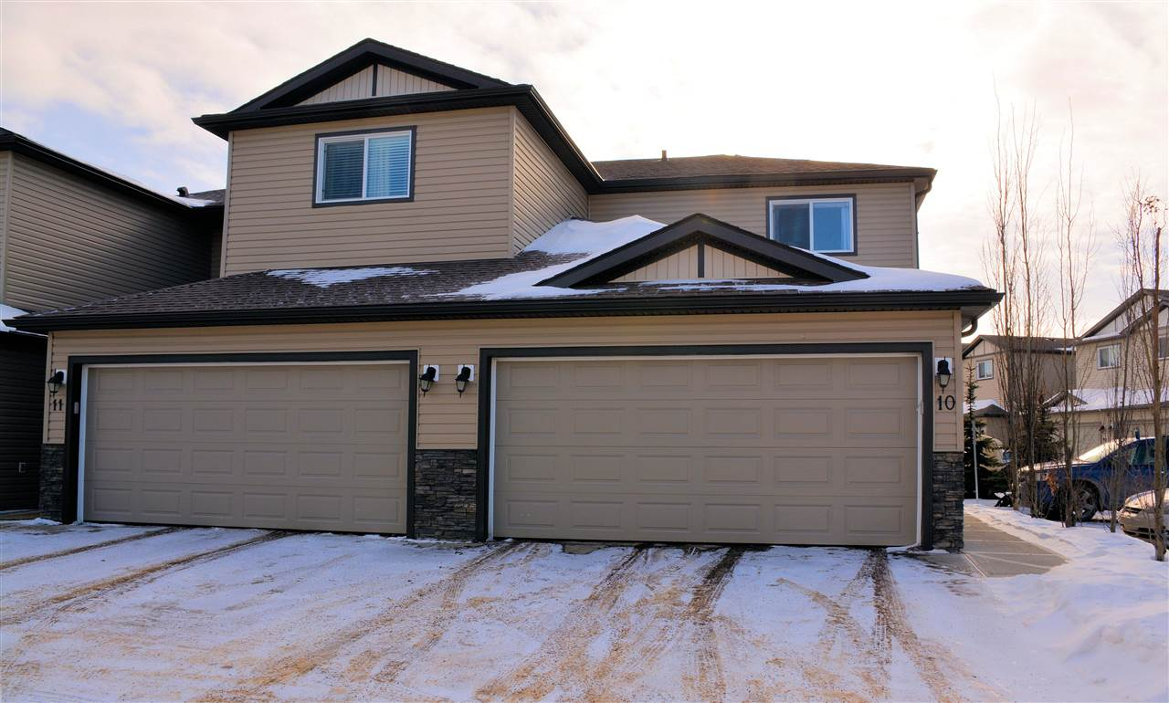 Main Photo: 10 445 BRINTNELL Boulevard NW in Edmonton: Zone 03 House Half Duplex for sale : MLS® # E4097407