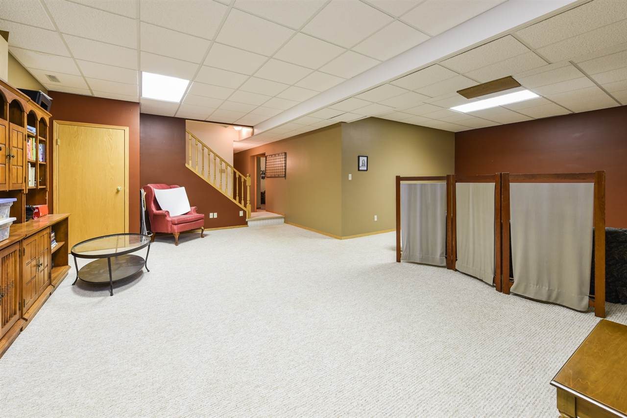 The fully finished basement has 9 ft ceilings, huge family room, games room, 3rd bathroom and 2 more bedrooms.