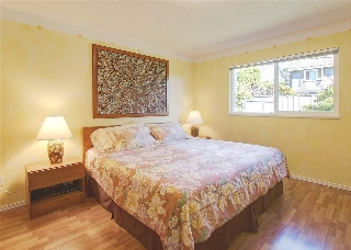 Large master bedroom with windows overlooking the backyard and a 3pc ensuite.