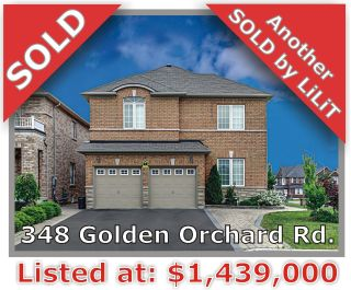 Main Photo: 348 Golden Orchard Rd in Vaughan: Patterson Freehold for sale