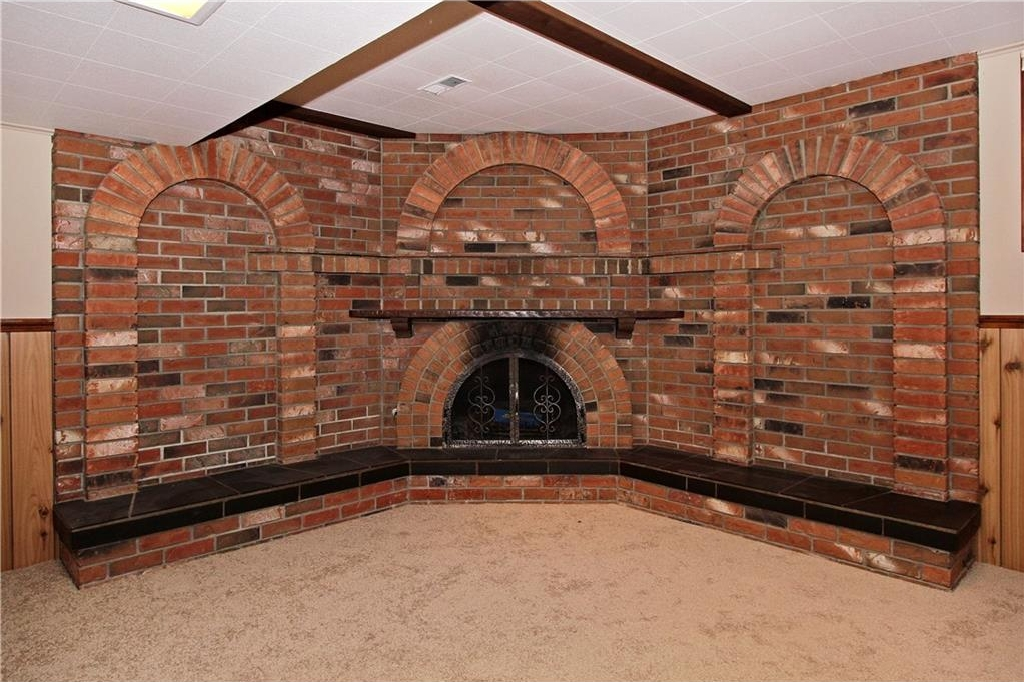 BEAUTIFUL BRICK FIREPLACE