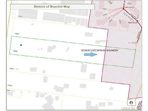 Saanich Sewer Enterprise Boundary in red
