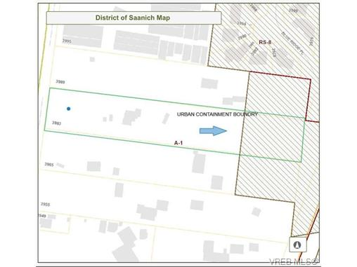 Saanich Sewer Enterprise Boundary in grey