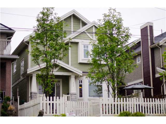 "Main Photo: 1938 ADANAC Street in Vancouver: Hastings House 1/2 Duplex for sale in ""COMMERCIAL DRIVE"" (Vancouver East)  : MLS® # V887660"